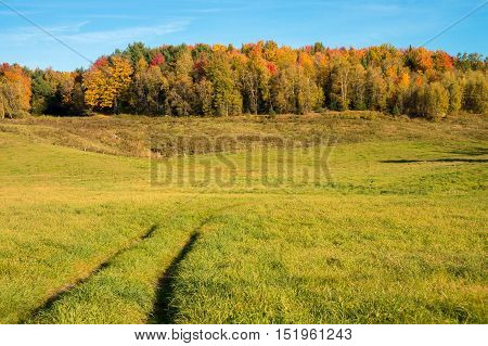 Quebec Countryside In Autumn