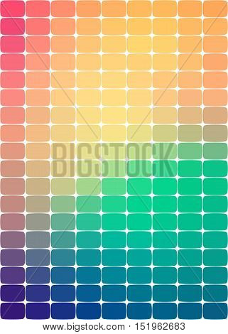 background with rounded rectangles through the colors of the rainbow through