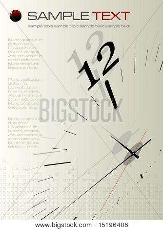 Time concept composition - vector illustration