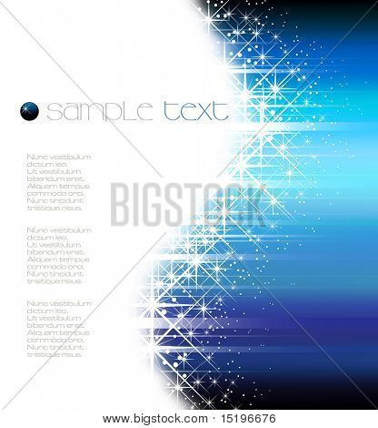 Blue glittering background - vector illustration