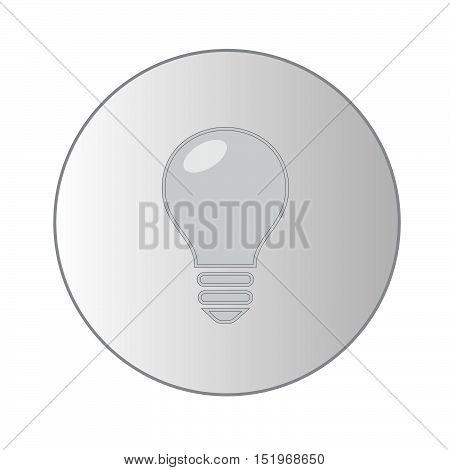 Grey lightbulb. Lightbulb icon. Vector art. EPS 10