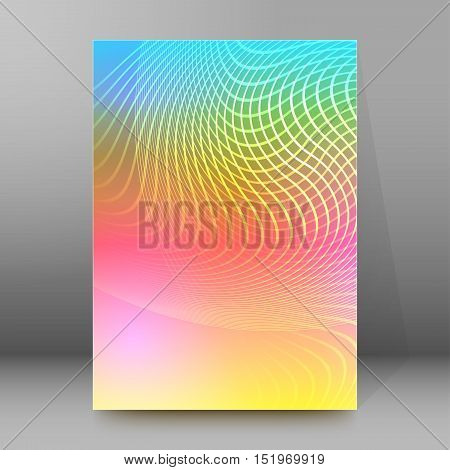 Background Report Brochure Cover Pages A4 Style Abstract Glow96