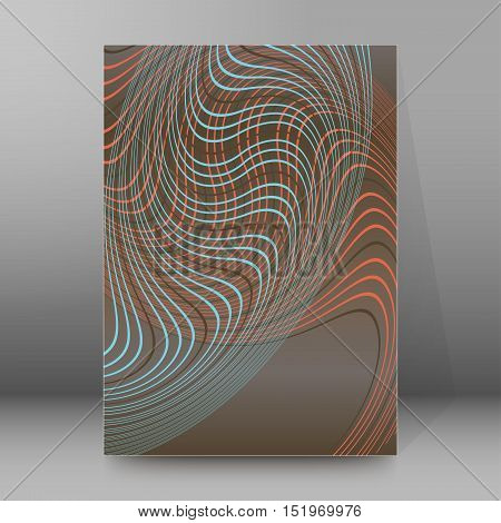 Background Report Brochure Cover Pages A4 Style Abstract Glow97
