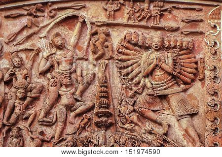 artistic eastern Handicrafts. Terra Cotta of Murdhidabad