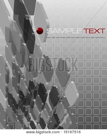 Abstract grayscale transparent composition - vector illustration