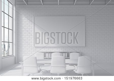 Brick Wall Conference Room With Poster