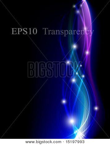 Blue fantastic background - vector illustration