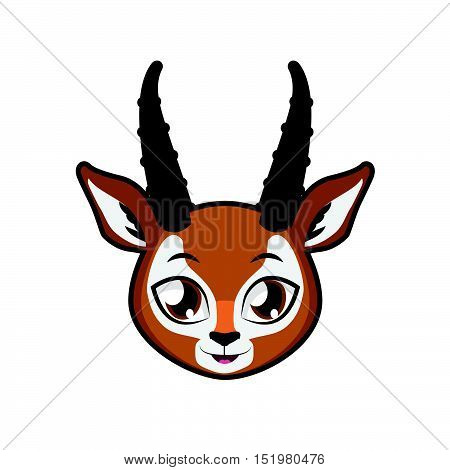 Antelope portrait illustration art for multiple purposes