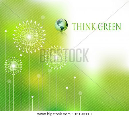 Abstract spring concept - vector illustration