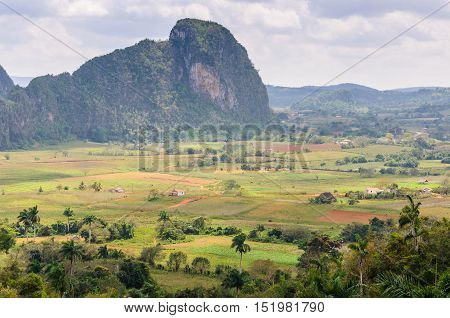 View Of Rock Formations In Vinales Valley, Cuba