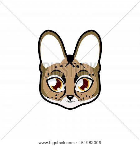 Serval portrait illustration art for multiple purposes