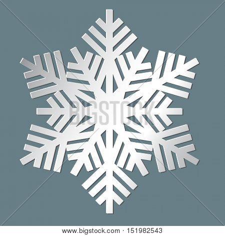 Decorative abstract snowflake. Vector illustration