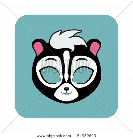 Skunk Mask For Halloween And Other Festivities