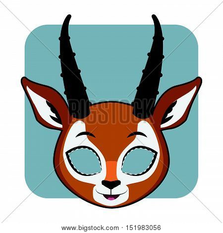 Antelope Mask For Halloween And Other Festivities