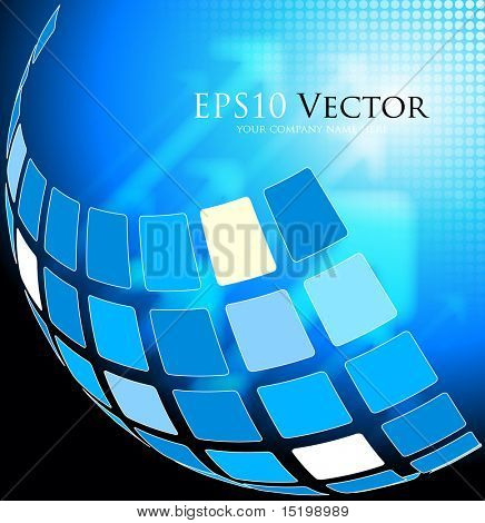 Blue abstract technical background - vector illustration