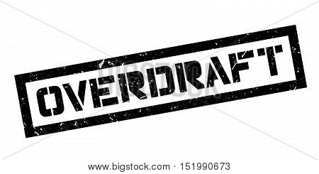 Overdraft Rubber Stamp