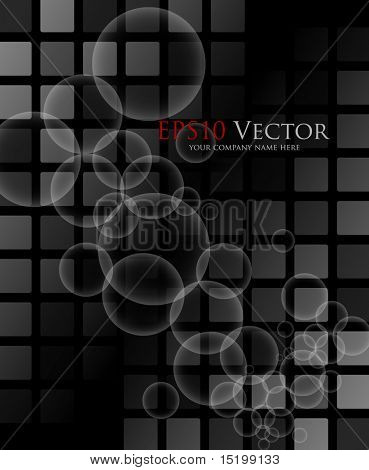 Black abstract background - vector illustration