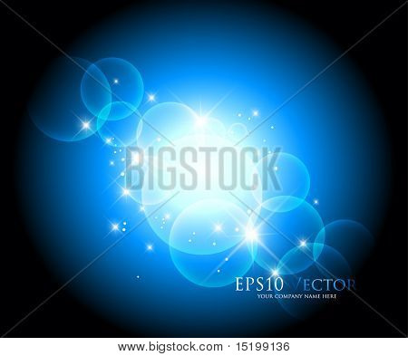Abstract blue background - vector illustration