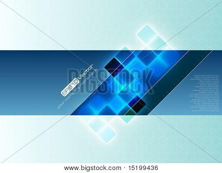 Blauwe decoratieve achtergrond - vectorillustratie