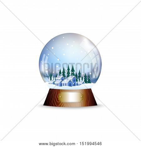 On the image presented Christmas toy a sphere with the snow
