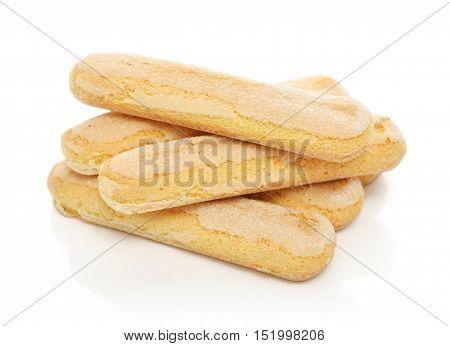 Pile Of  Ladyfinger Savoiardi Biscuit Cookies