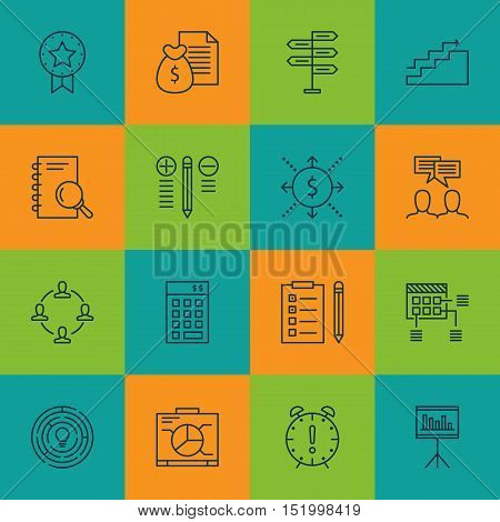 Set Of Project Management Icons On Time Management, Schedule, Opportunity And Other Topics. Editable