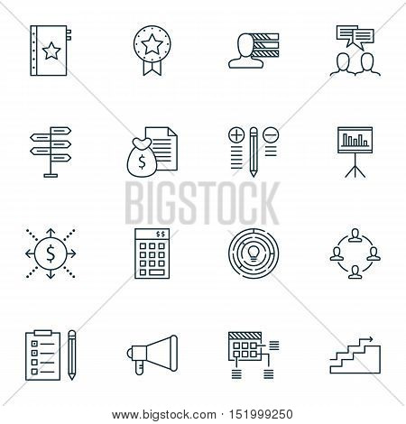 Set Of Project Management Icons On Warranty, Decision Making, Personal Skills And Other Topics. Edit