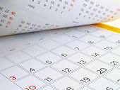 desk calendar with days and dates in July 2016, flip the calendar page poster