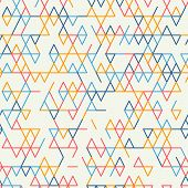 Abstract geometric background. Abstract technology pattern with colorful geometric shapes in tessellation. Linear abstract lattice random coloring. Vector seamless linear pattern. poster