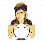 Paranormal Mystical Astrology Fortune Teller Crystal Ball Divine poster
