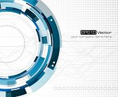 Mechanical abstract background - vector illustration poster