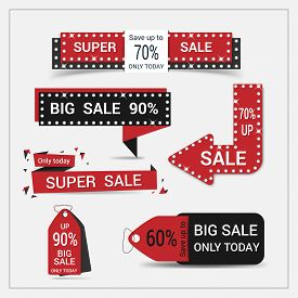 Set of sale banner. Sale Labels.Vector illustration