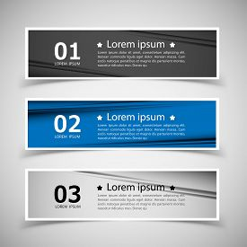 Set of banner templates. modern abstract design.