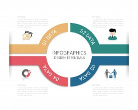 Modern Design infographic template / numbered banners / graphic or website layout vector