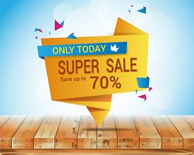 sale banner template vector design. Sale and discounts. Vector illustration
