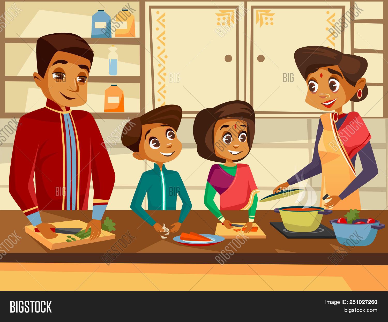 Cartoon Indian Family Image Photo Free Trial Bigstock