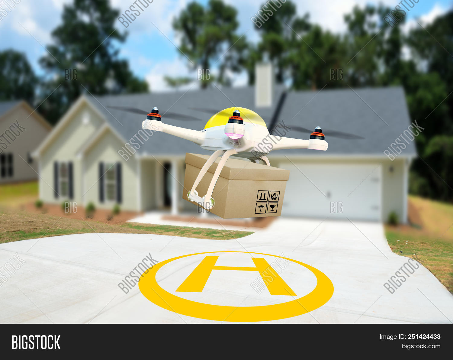 Concept Drone Package Image & Photo (Free Trial) | Bigstock
