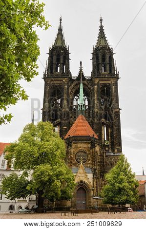 Meissen Cathedral, Western Facade With Prince's Chapel