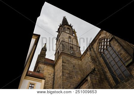 Meissen Cathedral Tower Seen From Its Inner Courtyeard