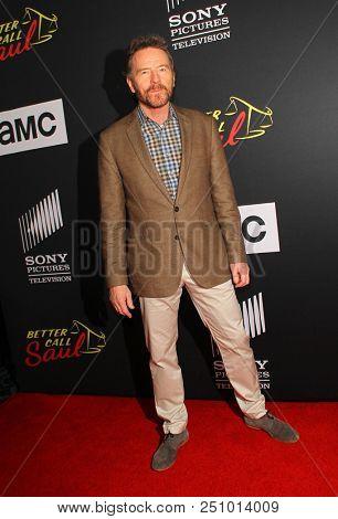 Bryan Cranston arrives at the AMC's