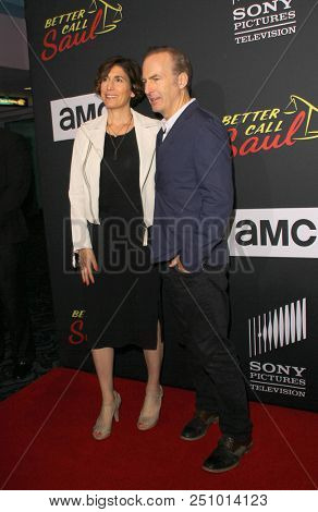 Naomi Odenkirk and Bob Odenkirk arrives at the AMC's