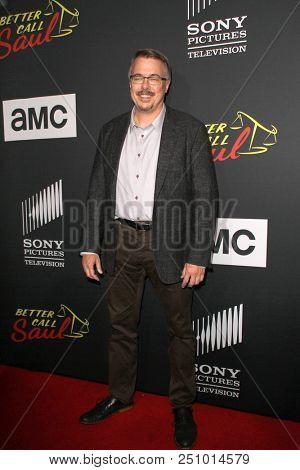 Vince Gilligan arrives at the AMC's