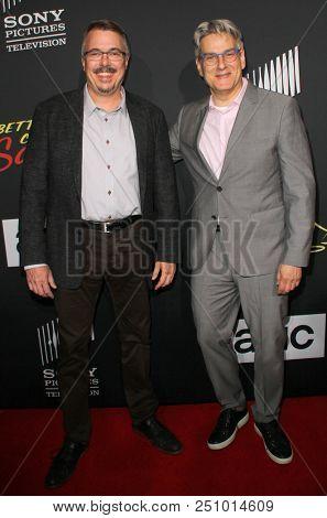 Vince Gilligan, Peter Gould arrive at the AMC's