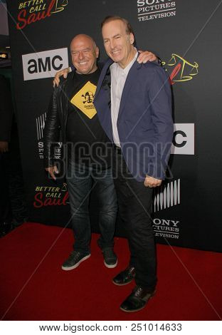 Dean Norris and Bob Odenkirk arrive at the AMC's