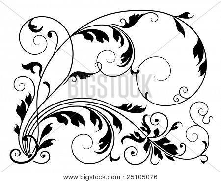 classic floral element
