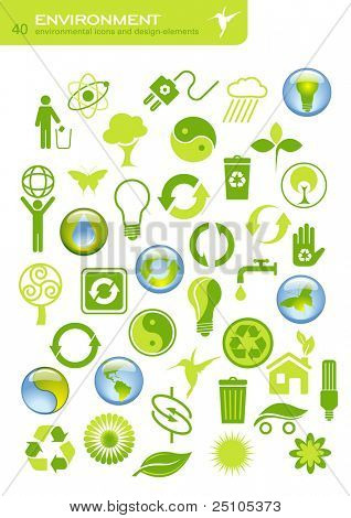 environmental buttons and design elements - raster version of img. no. 16611211