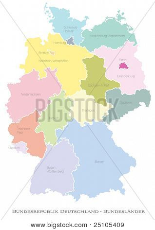 federal states of Germany - deutsche Bundeslaender
