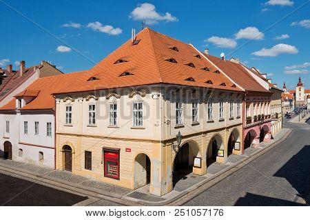 Zatec Town,  Czech Republic - May 8, 2016: Burger House In Zatec Town.