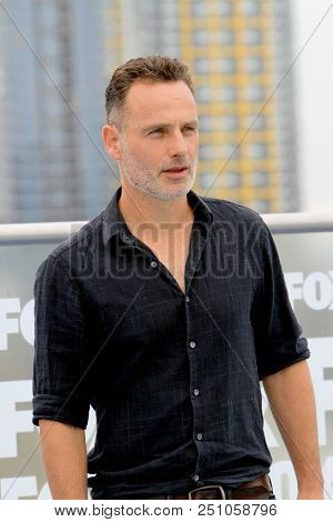 Andrew Lincoln arrives at a special AMC