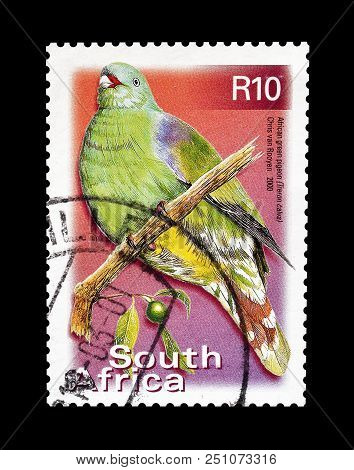 South Africa - Circa 2000 : Cancelled Postage Stamp Printed By South Africa, That Shows African Gree